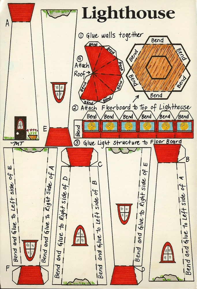Cut out and make paper models 28 images thesamba view for 3d paper lighthouse template